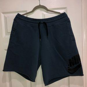 Nike slate blue French terry sweat shorts size XL